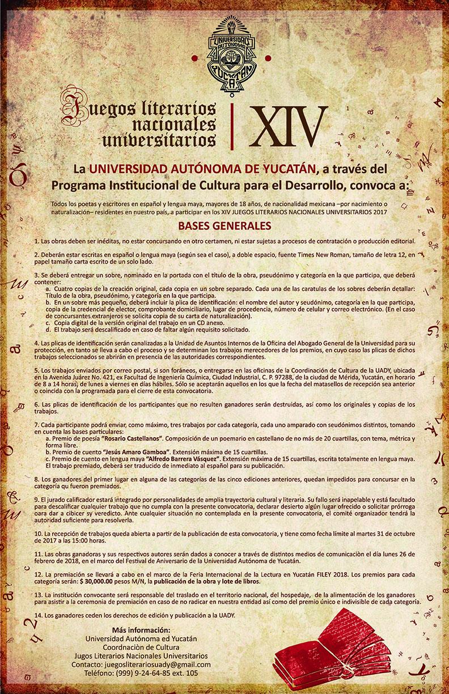 Participa De Los Juegos Literarios Nacionales Universitarios De La Uady